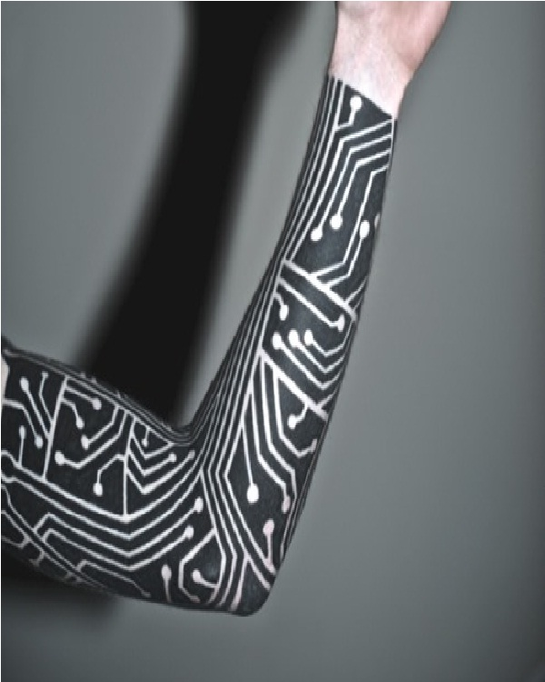 circuit board top 15 tattoos for men. Black Bedroom Furniture Sets. Home Design Ideas