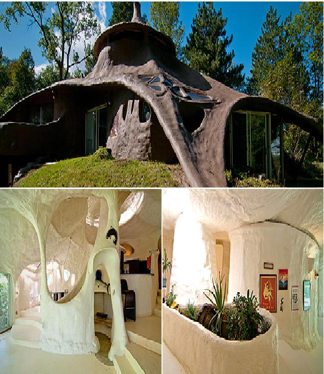 The foam house weirdest houses in the world for Foam concrete house