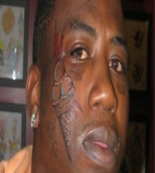 Ice cream fan ugliest face tattoos for Tattoo of ice cream cone on face